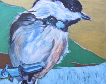 Chicadee Painting