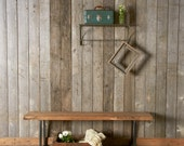 "Modern reclaimed wood Bench with square steel legs(1.65"" Standard Top, 36""L x 11.5""w x 18""h)"