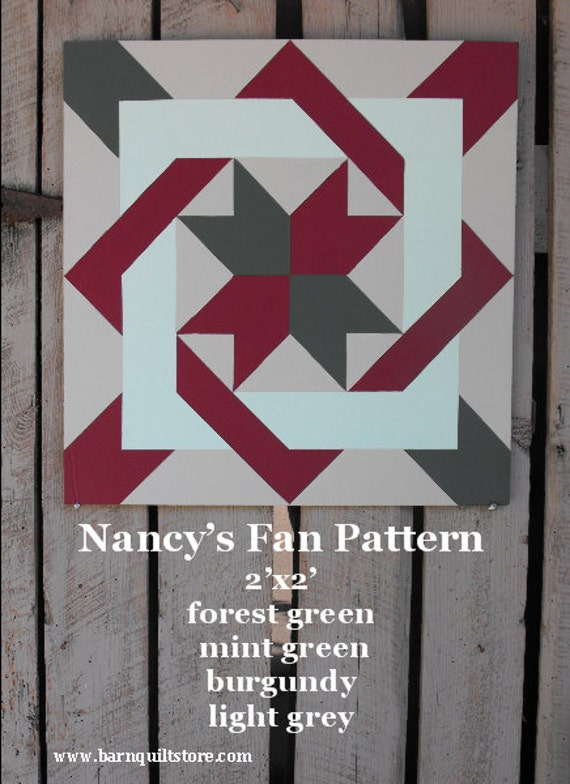 Items Similar To Painted Wood Barn Quilt Nancy S Fan