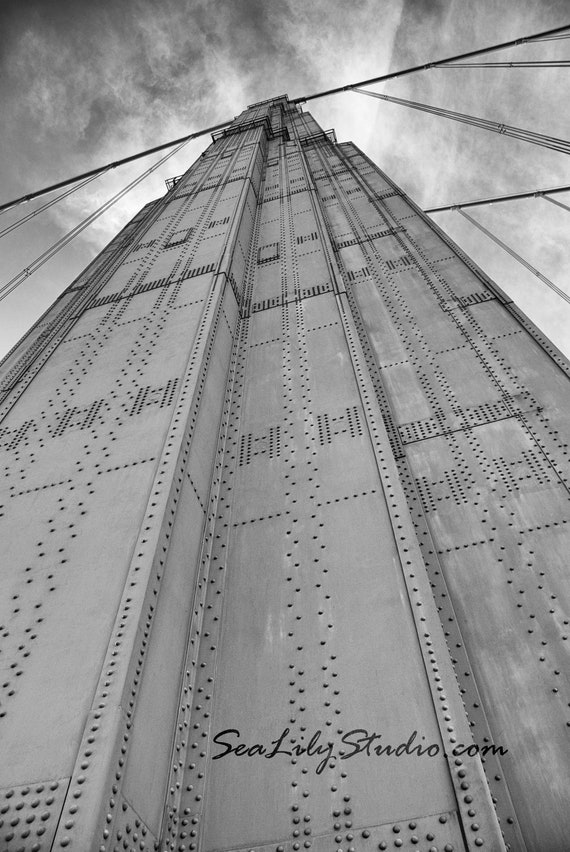 Golden Gate Bridge : san francisco photography bay area northern california monochrome historic black and white 8x12 12x18 16x24 20x30 24x36