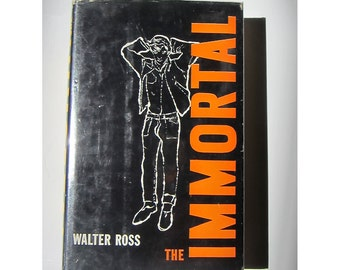 Andy Warhol - pre pop art cover - The Immortal by Walter Ross - Hardcover