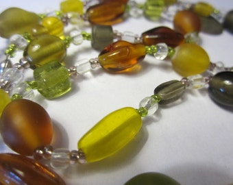 Fall Necklace and Earrings Set