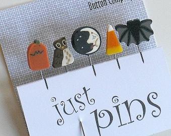HALLOWEEN PINS.  Perfect for Decorating Pumpkins.