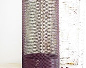 Large Vintage Industrial Metal Mesh Trash Can