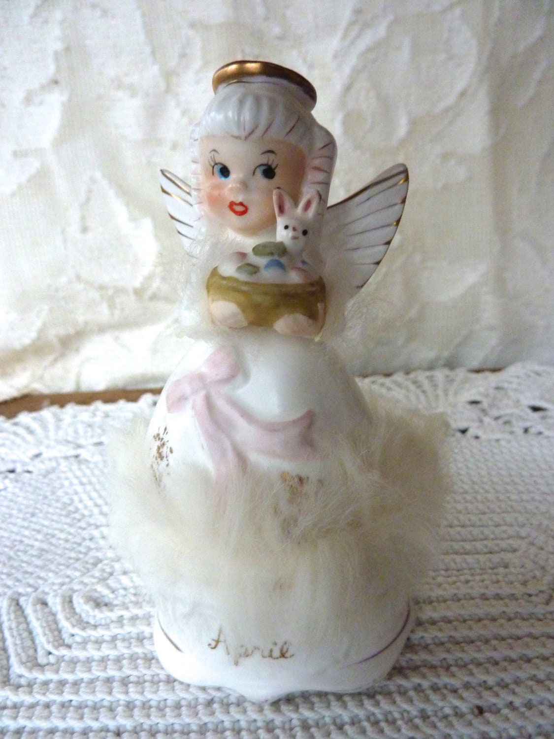 April Angel Of The Month Figurine Napco