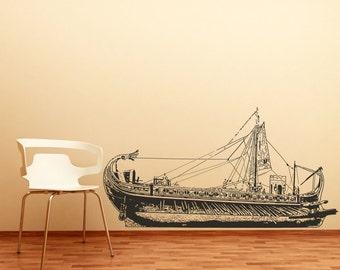 Vinyl Wall Decal Sticker Ancient Greek warship OSAA183m