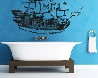 Vinyl Wall Decal Sticker Pirate Ship OSAA306B
