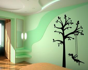 Vinyl Wall Decal Sticker Tree Swing OSMG449s