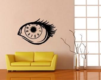 Vinyl Wall Decal Sticker Eye Clock OSMB696B
