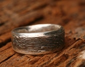 Sterling Silver Fingerprint Jewelry- Rustic Themed Wedding