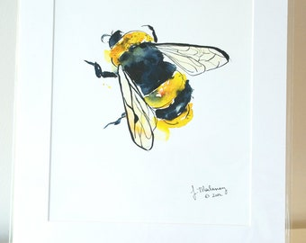 Bumblebee Watercolor