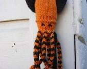 Orange Knit Squid- Spook