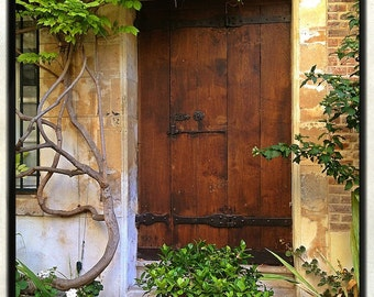 Paris Photography, French Wall Art, Paris Decor, Romantic, Home Decor, Doorway, Brown, Earth Tones, Paris Art, 8x10