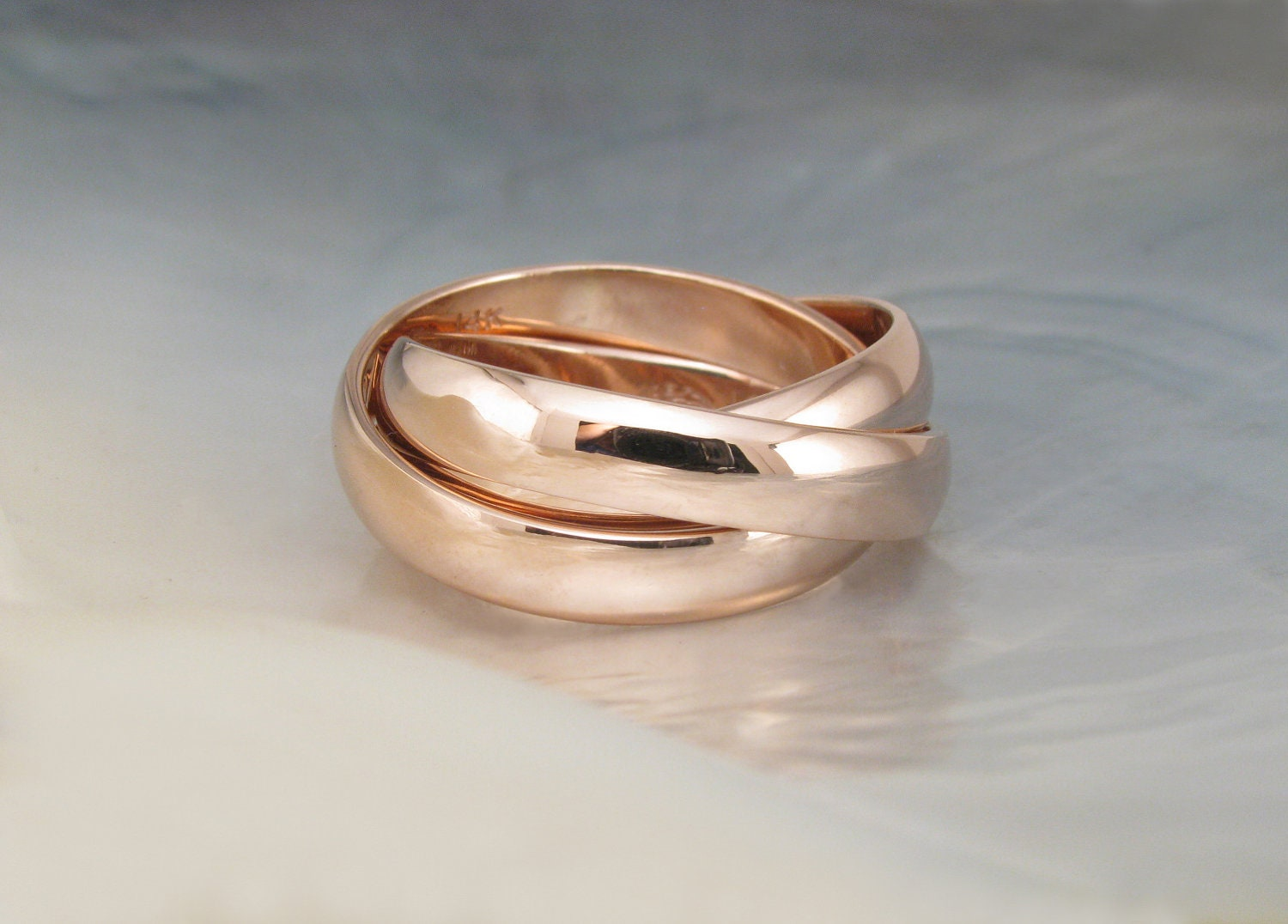 chunky rolling rings russian wedding bands hand by With chunky wedding rings