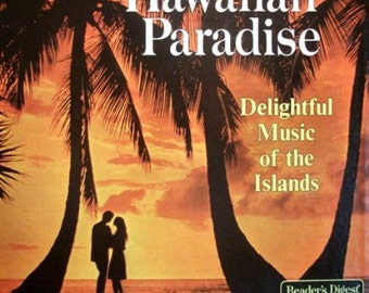 Vtg 5 Stereo Readers Digest Vinyl Records Hawaiian Paradise Record Album Gift Ideas of Vintage Music