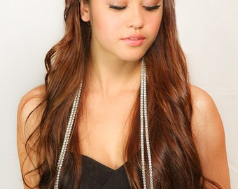 Crystal Chain Headband / Rhinestone chain Headband / Womens Formal Headband / Kristin Perry