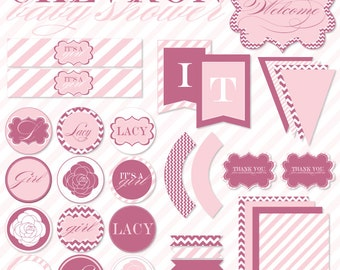Pink Baby Shower PRINTABLE Full Collection by Love The Day