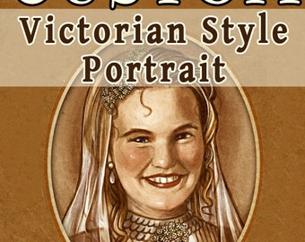 CUSTOM Victorian Style Portrait Commission