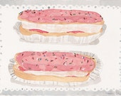 Eclairs , A4 cardstock print