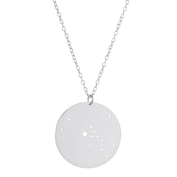 Sterling Silver Taurus Constellation Pendant Necklace