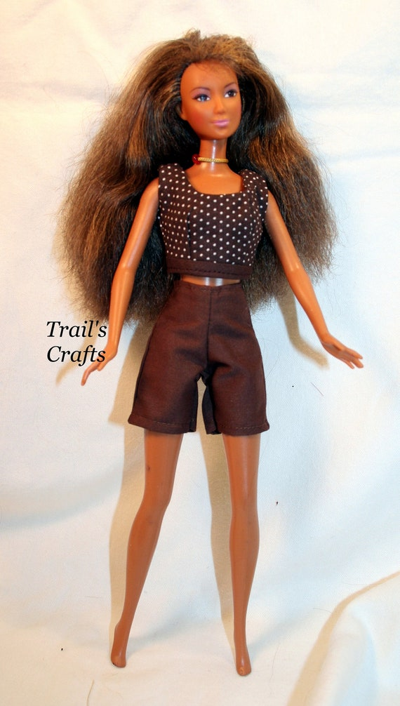 Handmade Barbie Clothes Doll Outfit Style 5 Shorts By Trailscrafts