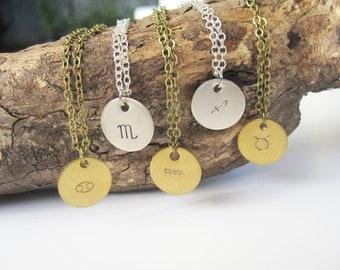 Astrological Necklace Zodiac Necklace Birthday Necklace Zodiac Jewelry Zodiac Charm Personalized Jewelry