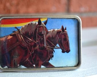 Horses   Belt Buckle