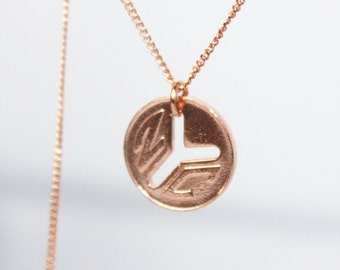 nyc pendant. vintage 70's new york city. sterling silver, rose or yellow gold vermeil • • astor necklace