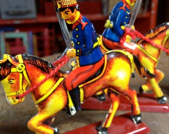 vintage 1988 limited edition made in Spain toy soldier set of three IBI Alicante-Espana