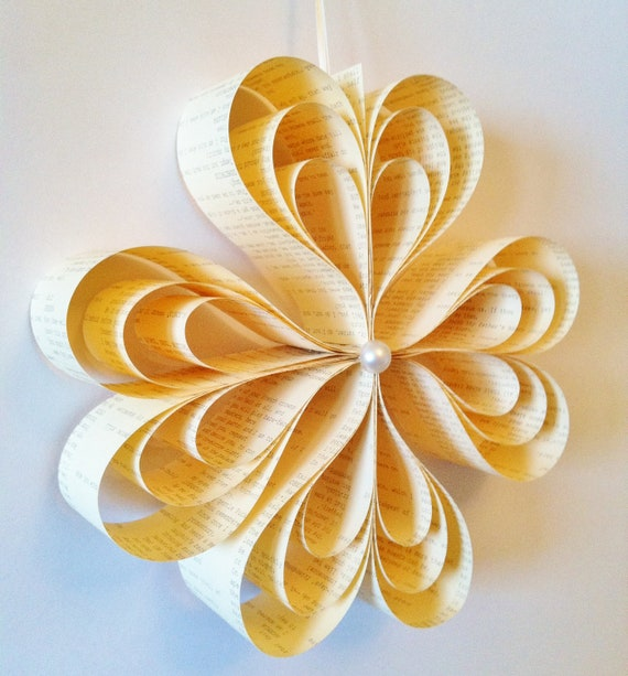 Hanging Paper Ornament- circle of hearts, decoration, wedding, party, home decor, paper flower, gift, one of a kind