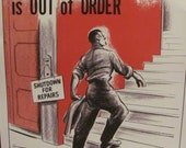 Retro Vintage Safety Poster -- Circa 1950s   11 x 14