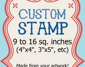 Custom Rubber Stamp - 4x4 Logo Invitation Address Clear 9 to 16 sq in