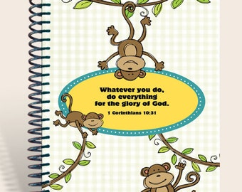 Monkey'n Around PERSONALIZED Notebook