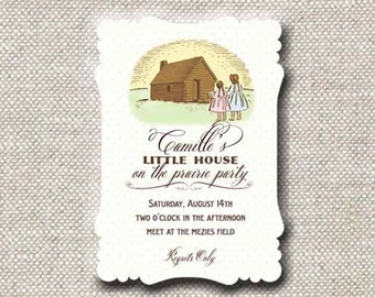 Little House on the Prairie Invitation by Loralee Lewis