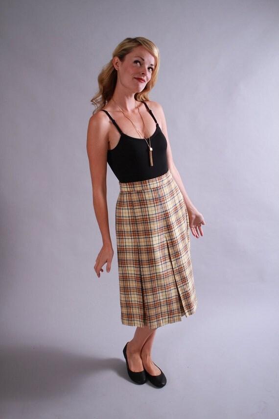 1960s skirt / 60s wool skirt / fall winter fashion