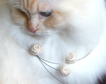 Cat Hair necklace SPIRAL OUT