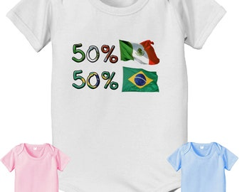 short sleeve and long sleeve 50 Brazilian 50 Mexican cute baby infant toddler bodysuit baby bodysuit, baby shower gift