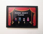 Super Mario Brothers 2 COMPLETED Key Holder - Select Your Player - Mario Princess Peach Toad and Luigi