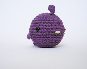 Violet Fat Bird-Amigurumi Bird