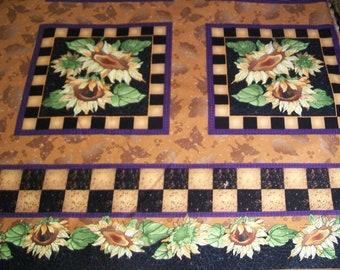Fabric Destash -  Sunflower Blocks by Nancy Smith and Lynda Milligan for Possibilities (Avivyn, Inc.)