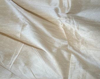 Silk Dupioni in Cream - Half yard  Extra Wide, 54 inches - DEX 164