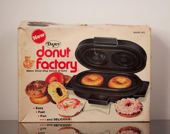 Vintage Dazey Donut Factory Electric Donut Maker 1960s Doughnut Iron Small Appliance Housewares