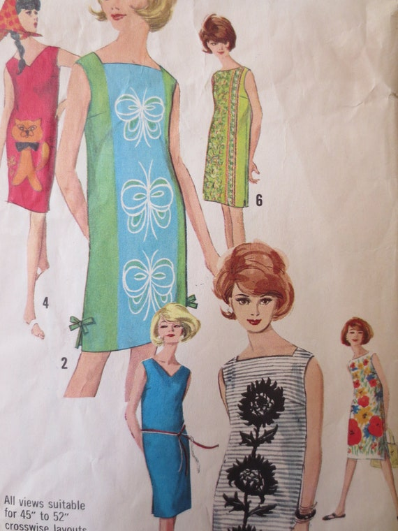 RESERVED Vintage Simplicity 5309 Sewing Pattern, Shift Dress Pattern, 1060s Dress Pattern, Bust 31 Inches, Vintage Size 10