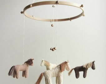 baby mobile - nursery mobile - horse mobile -pony mobile  - DREEMS RIDER - made to order