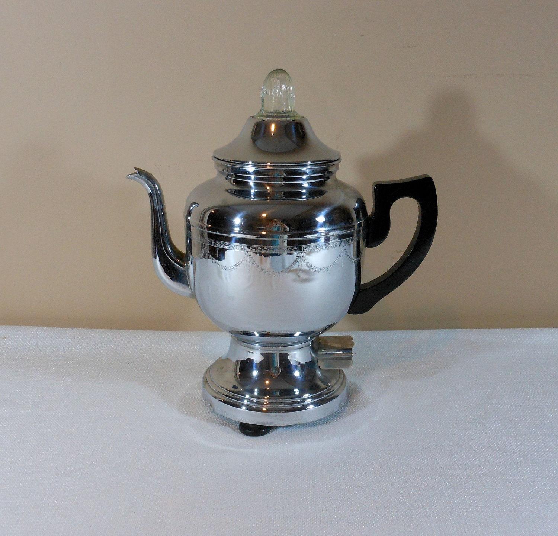 Antique Percolator Coffee Maker : Vintage Farberware Percolator No 206 Coffee Pot by 2cool2toss