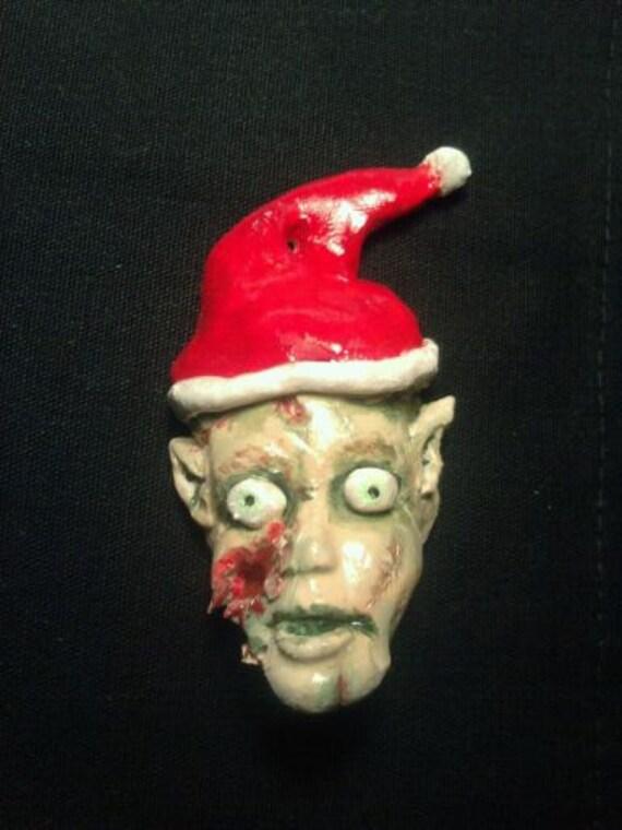 Zombie Elf Christmas Ornament