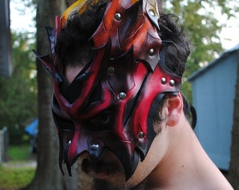 Inferno Demon Lord Leather Mask