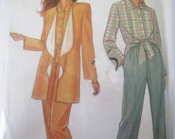 New Look 6262 Women's 90s Jacket Shirt & Pants or Trousers Sewing Pattern Bust 31 to 40