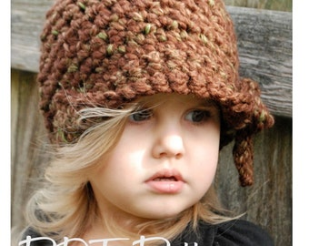Crochet PATTERN-The Mylie Cloche' (Toddler, Child, and Adult sizes)