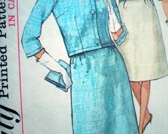 Simplicity 5779 Vintage 1960s  A Line Dress and Jacket Pattern Size 16